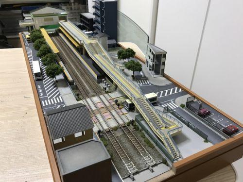 有松駅…粗工作完了 & 背景画