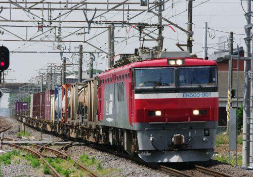 5月16日撮影 常磐線 神立駅 EH500-901号機を撮る