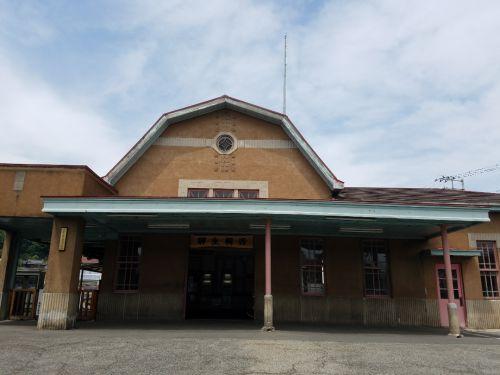 上毛電気鉄道のレトロ駅舎に歩いて訪問
