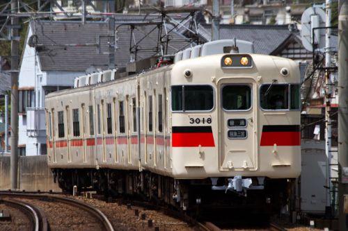 山陽電車 塩屋で6000系「神戸高速線開通50周年記念」ヘッドマーク