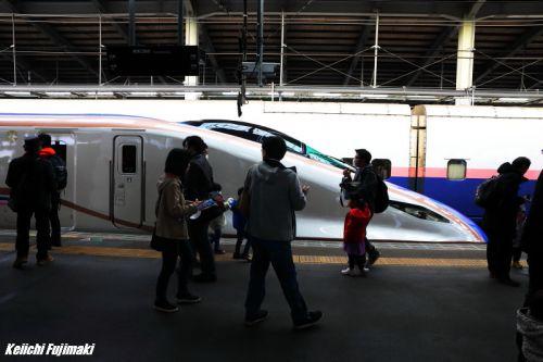 E7系上越新幹線 新潟駅で展示会3