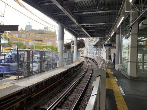 代々木八幡駅ホーム移設