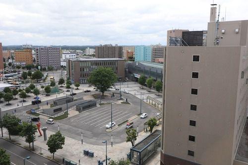 某所から見る帯広駅