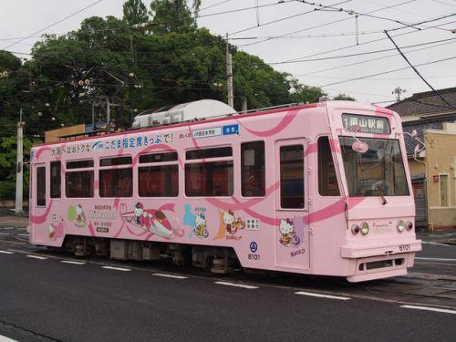 岡山電気軌道 8101 ハローキティ新幹線 (2442回)