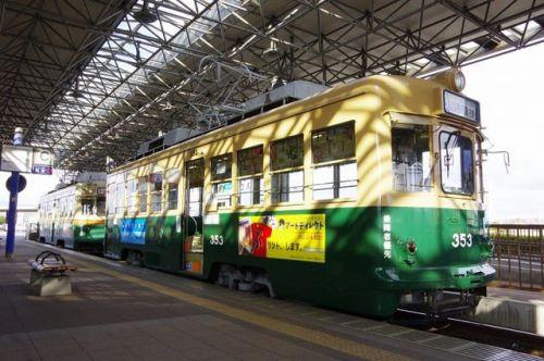 広島電鉄350形 車内
