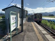 生田駅で下車