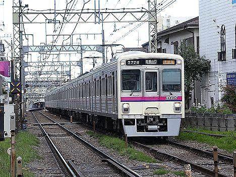 京王電鉄 準特急 高尾山口行き11 7000系幕車(白字)