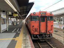 岡山駅からJR最長O型きっぷの旅115経路め、津山線始発普通津山行きに乗車