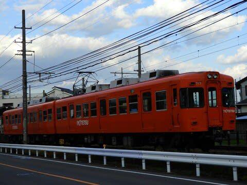 夕方の伊予鉄道