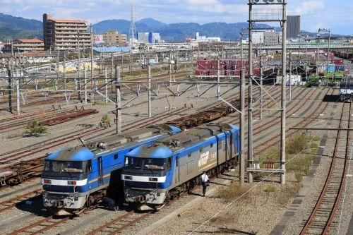 JR貨物 静岡貨物駅訪問記 (5073レその5 発車など 2020年10月)