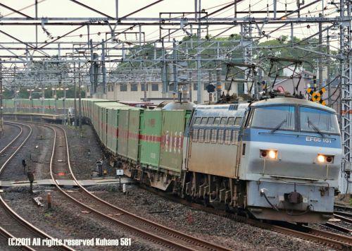 EF66+専用貨物列車の捕獲