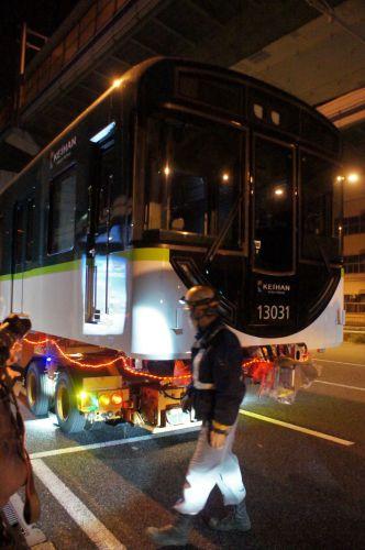 先頭車ダブル陸送の後は、また京阪増える?
