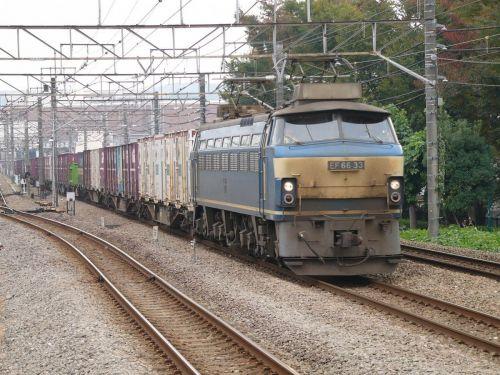EF66-33 【西国分寺駅:武蔵野線】 2007.11.9 過去帳より