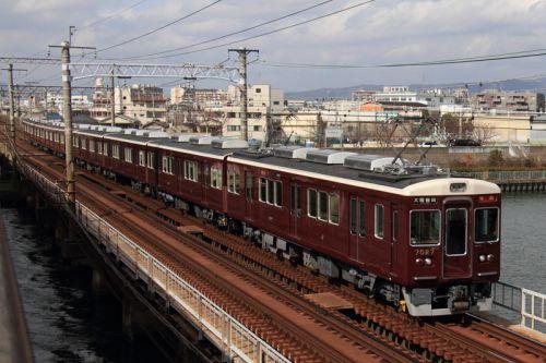 阪急神戸線7027F特急運用