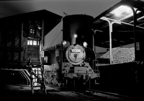 標津線 標茶駅機関庫でC11209を撮る