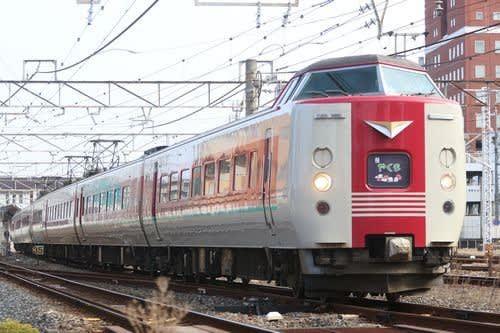 岡山の列車(やくも)
