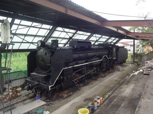 2018年晩夏 長野県内の保存蒸機を見て歩く旅 105  御代田駅そばの御代田交通記念館に保存されているD51 787号機